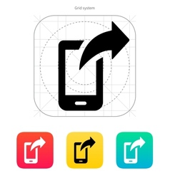 Phone posted icon vector image