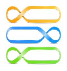 Abstract infinity symbols vector