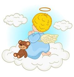 angel baby boy on cloud vector image vector image