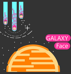 corporatedesign face galaxy vector image