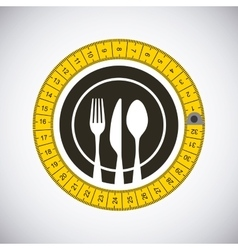emblem with silverware vector image