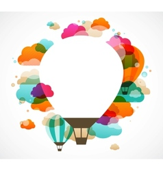 hot air balloon colorful abstract background vector image