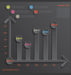Modern template infographics design data presentat vector image