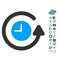 Restore clock icon with copter tools bonus vector