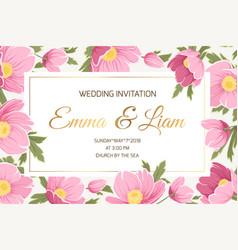 spring wedding invitation card vector image vector image