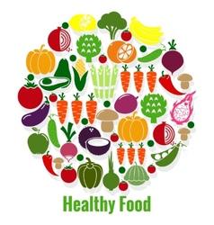 Vegetables healthy food vector image vector image