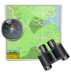 Camping Map vector image