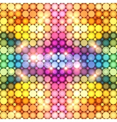 Colorful shining disco lights abstract background vector image vector image