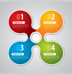 modern circle business poster vector image