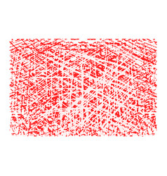 red rectangular grunge stamp with blank isolated vector image vector image