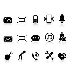 simple smartphone icons set vector image vector image