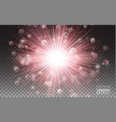 abstract light overlay effect on transparent vector image vector image