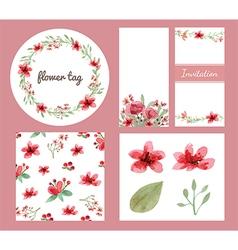 Flower decoration design set vector image
