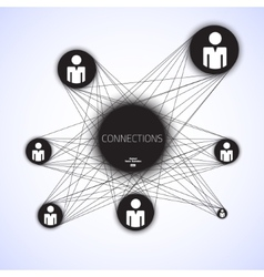 Geometric connections vector image