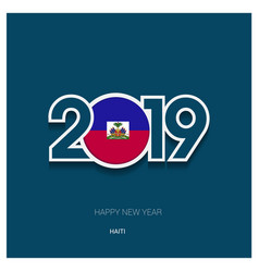 2019 haiti typography happy new year background vector