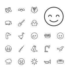 22 cartoon icons vector