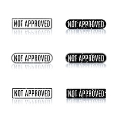 A set of stamps not approved vector