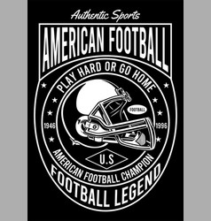 american football champion vector image