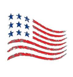American wave flag Independence Day vector