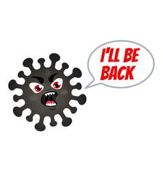 an angry coronavirus vector image