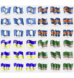 Antarctica Aland Buryatia Chechen Republic of vector