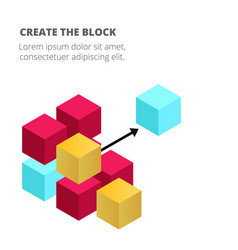 Blockchain concept colorful blockchain background vector