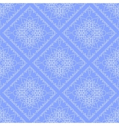 Blue Endless Texture Oriental Geometric Ornament vector image
