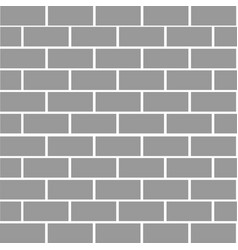 brick stone wall background gray color texture vector image