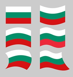 Bulgaria flag Set of flags of Bulgarian republic vector
