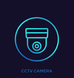 cctv camera icon sign vector image