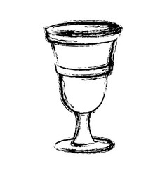 Chalice cartoon isolated vector