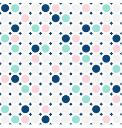 Colorful circles seamless pattern simple dots vector