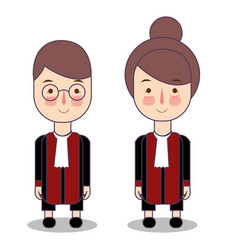 Cute cartoon of a judge kids vector