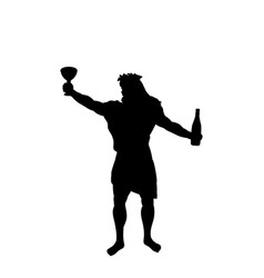 Dionysus bacchus god wine silhouette ancient vector