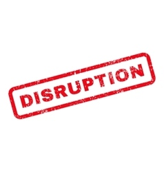 Disruption text rubber stamp vector