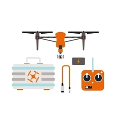 Drone quadcopter vector