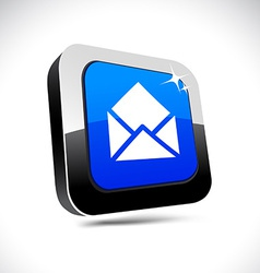 E-mail 3d square button vector