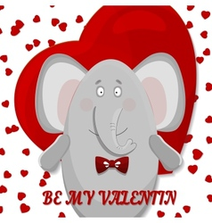 elephant wishes happy valentines day vector image