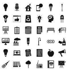 Factory icons set simple style vector