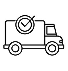 Finished delivery icon outline style vector