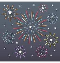 fireworks background vector image