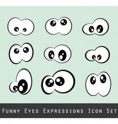 Funny eyes vector
