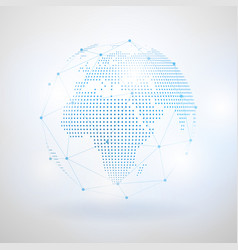 future technology concept of global business vector image