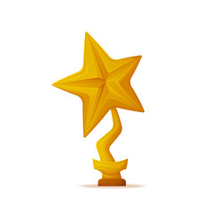 golden star trophy award vector image