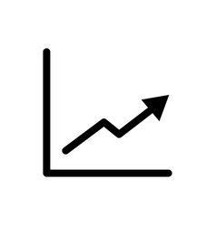 graph icon growth symbol vector image