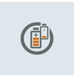 Gray-orange Battery Round Icon vector