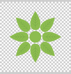 green flower icon flat vector image