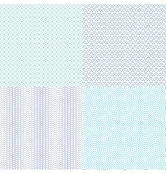 Guilloche wavy textures for diplomas vector
