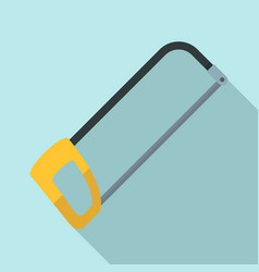 Hacksaw icon flat style vector
