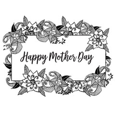 Happy mother day gretting card vector